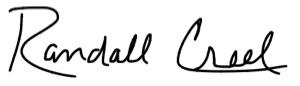 Randall Creel Signature
